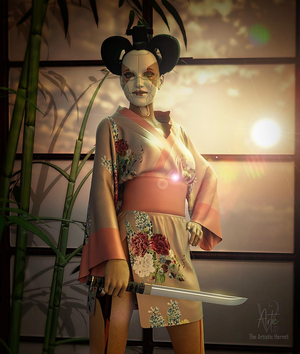 Bot Geisha at sunset-f7ba7ff8