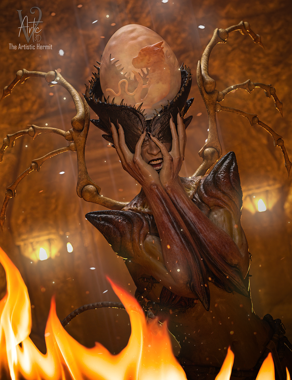 Borne of Fire - by - The Artistic Hermit-4f11acb2